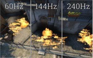 60Hz vs 144Hz vs 240Hz csgo inferno