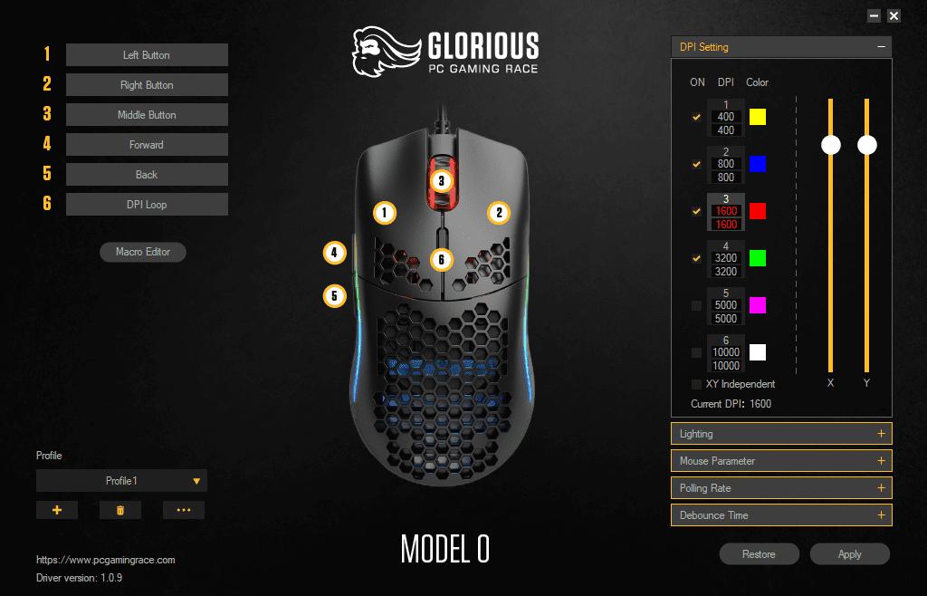 Glorious programvara